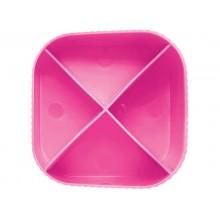 Portapenne X-LOOP HAN in polipropilene con 4 scomparti rosa 17230-56