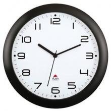 Orologio da parete ALBA moderno e assolutamente silenzioso, ideale per tutti gli ambienti Nero - HORNEW N