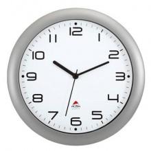 Orologio da parete Alba moderno e assolutamente silenzioso, ideale per tutti ambienti Grigio metall.- HORNEW M