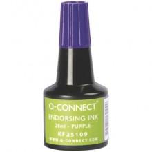 Inchiostro per timbri Q-Connect senza olio 28 ml viola KF25109 (Conf.3)