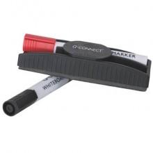 Portamarcatori e cancellino Q-Connect con 2 marcatori nero KF18633