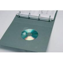 Custodia autoadesiva per CD/DVD Q-Connect 12,6x12,6 cm trasparente Conf. 10 pezzi - KF27032