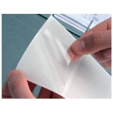 Etichette adesive permanenti Q-Connect 46x75mm trasparenti conf. da 6 - KF13781