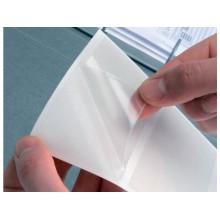 Etichette adesive permanenti Q-Connect A5 trasparenti conf. da 10 - KF27052