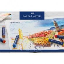 Pastelli a olio Faber-Castell Oil Pastels Creative Studio assortiti astuccio di cartone da 36 - 127036