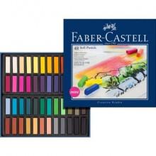 Crete morbide Faber-Castell Soft Pastels Creative Studio mini assortiti astuccio di cartone da 48 - 128248