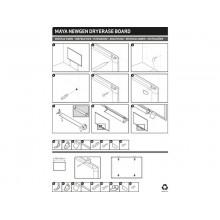 Lavagne cancellabili Bi-office New Generation magnetica bianca laccata 90X60 cm. bianco - MA0307830