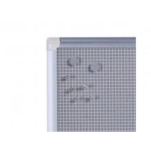Pannelli Bi-office New Generation combonet quadretti/bacheca 90x60 cm. grigio - CA030830