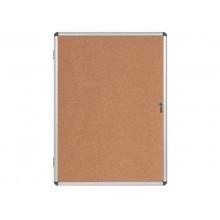 Bacheca in sughero Bi-Office Enclore con cornice in alluminio 9xA4 VT630101150