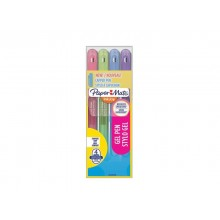 Penne Paper Mate InkJoy Gel 600 Stick M 0,7 mm assortiti - wallet da 4 (rosa, lime, viola, blue grey) - 2022538