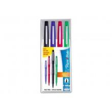 Penna punta fibra Flair/Nylon Paper Mate Flair/Nylon M 1,1 mm assortiti (nero, blu, rosso, verde)  set da 4 - S0917670