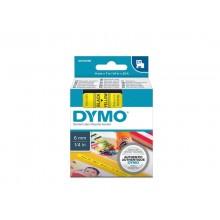 Nastro per etichettatrici Dymo D1 6 mm x 7 m nero/giallo S0720790