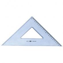Squadra ARDA Linea Uni plastica termoresistente fumé ottico trasparente 45° cm 30 - 28730SS