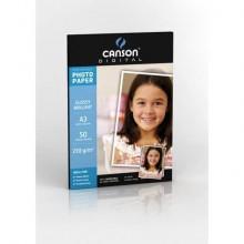 Carta fotografica inkjet CANSON PERFORMANCE 50 fogli A3 lucida 210 g/m² Conf. 50 pezzi - C200004326
