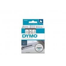 Nastro per etichettatrici Dymo D1 9 mm x 7 m nero/trasparente S0720670