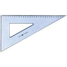 Squadra ARDA Linea Uni plastica termoresistente fumé ottico trasparente 60° cm 35 - 28835SS