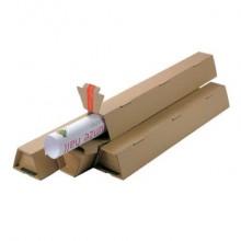 Tubo fustellato per spedizioni ColomPac in cartone ondulato 430×105/55×75 mm avana - CP 070.02 (Conf.20)