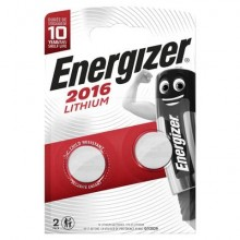 Batterie al litio a bottone ENERGIZER CR2016 Conf. 2 pezzi - E301021903
