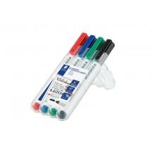 Marcatori per lavagne bianche Staedtler Lumocolor whiteboard compact 341 assortiti  astuccio da 4 pezzi - 341 WP4