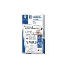 Marcatore per lavagne bianche Staedtler Lumocolor whiteboard compact 341 1-2 mm nero - 341-9