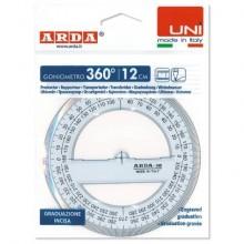 Goniometro ARDA Linea Uni plastica termoresistente fumé ottico trasparente 360° 12 cm - 285SS