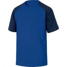 T-Shirt Mach Delta Plus bicolore girocollo manica corta cotone azzurro-blu - XXL - GENOABMXX