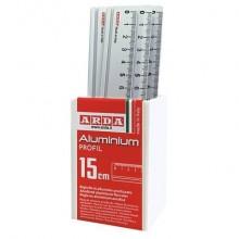 Righello Profil ARDA Profil alluminio anodizzato 15 cm Conf. 15 pezzi - 17915BAR