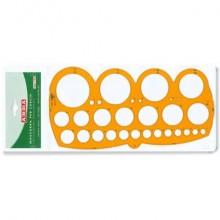 Maschera per cerchi ARDA con smusso mm.1-55/80 polistirolo arancio bordo tirachina - 7126