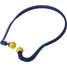 Coppia tappi auricolari Delta Plus in poliuretano con archetto blu-giallo - CONICMOVE01VE