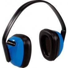 Cuffia antirumore Delta Plus con padiglioni in polistirene archetto in ABS blu-nero - SPA3BL