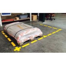 Sticker segnaletici adesivi Tarifold PRO® di sicurezza - rettangolari 200x50 mm giallo  Conf. 10 pezzi - 197104