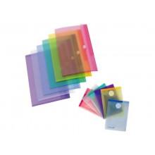 Buste con bottone Tarifold® con chiusura in velcro A7 conf. 6 pz. colori assortiti - 510219