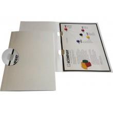 Cartelline con naselli 4Mat A4 in bindakote 250 g/m² bianco conf. da 10 pezzi - 3640