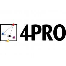 Cartelline a 2 lembi 4Pro A4 in carta di cellulosa 225 g/m² dorso 2 cm giallo conf. da 50 pezzi - 4175 02