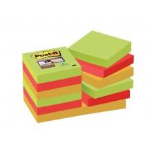 Foglietti riposizionabili Post-it® Super Sticky 47,6x47,6 mm Marrakesh conf. 12 blocc. da 90 ff - 622-12SS-MAR