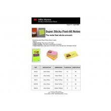 Foglietti riposizionabili Post-it® Super Sticky Notes 7,6x12,4 cm 90 ff giallo oro - 655-S