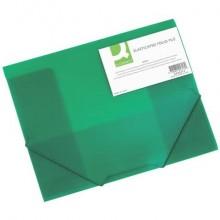 Cartellina a 3 lembi Q-Connect A4 ppl dorso 3 cm verde KF02313