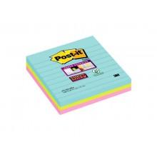 Foglietti riposizionabili Post-it® Super Sticky Miami a righe assortiti conf. 3 blocchetti da 70 ff - 675-3SSMIA