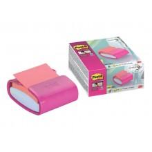 Dispenser foglietti adesivi Post-it® Z-Note bianco/fucsia PRO-C-1SSC