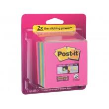 Foglietti Post-it® ricarica Super Sticky Notes Bora Bora assortiti conf. 6 blocchetti da 90 ff - 2028-SS-RBWC