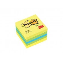 Foglietti riposizionabili colorati Post-it® Notes Minicubo 51x51 mm giallo 400 ff - 2051-L