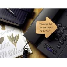 Foglietti riposizionabili colorati Post-it® Notes cubo sagomato freccia 250 ff - 2007A
