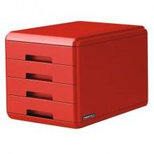 """Cassettiera 4 cassetti ARDA """"Rosso Italia Collection"""" polistirolo e materiale infrangibile rosso - 18P4PRIR"""