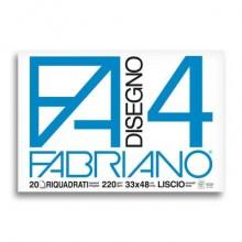 Album da disegno Fabriano F4 220 g/m² 20 33x48 cm ff. lisci riquadrati 05201797