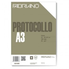 Fogli protocollo Fabriano PROTOCOLLO bianco 66 g/m² 29,7x42 cm senza rigatura conf. da 200 fogli - 02010566