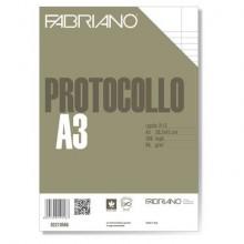 Fogli protocollo Fabriano bianco 66 g/m² 29,7x42 cm rigato a 31 con 2 margini conf 200 fogli - 02210566
