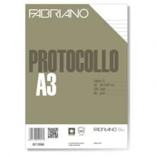 Fogli protocollo Fabriano PROTOCOLLO bianco 66 g/m² 29,7x42 cm rigato a 4 mm conf. da 200 fogli - 02710566