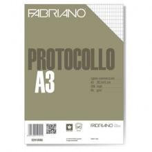 Fogli protocollo Fabriano bianco 66 g/m² 29,7x42 cm rigato commerciale conf. 200 fogli - 02910566