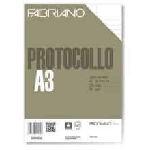 Fogli protocollo Fabriano PROTOCOLLO bianco 66 g/m² 29,7x42 cm rigato uso bollo  conf. da 200 fogli - 02310566