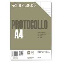 Fogli protocollo Fabriano PROTOCOLLO bianco 80 g/m² 21x29,7 cm rigato uso bollo  conf. da 500 fogli - 02311914